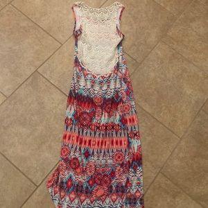 Hot Kiss Dresses - Tie Dye Maxi dress